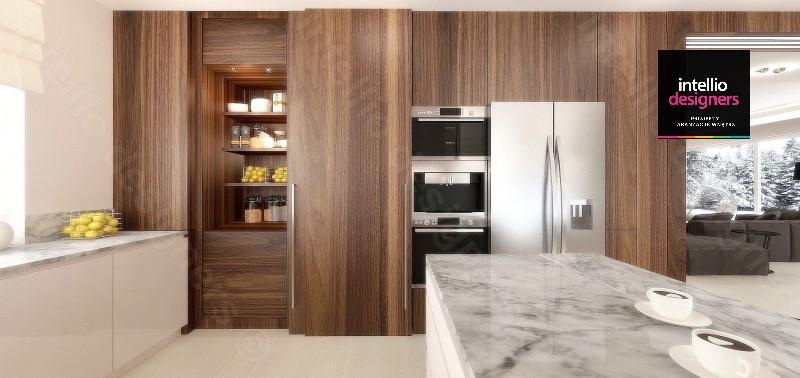 Drewniana kuchnia Intellio designers