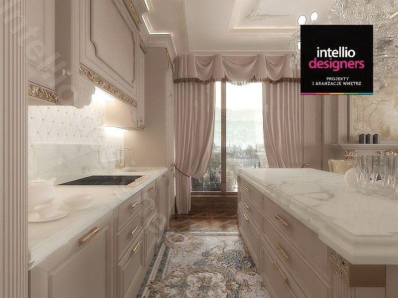 Pałacowa kuchnia na miarę luksusowego wnętrza