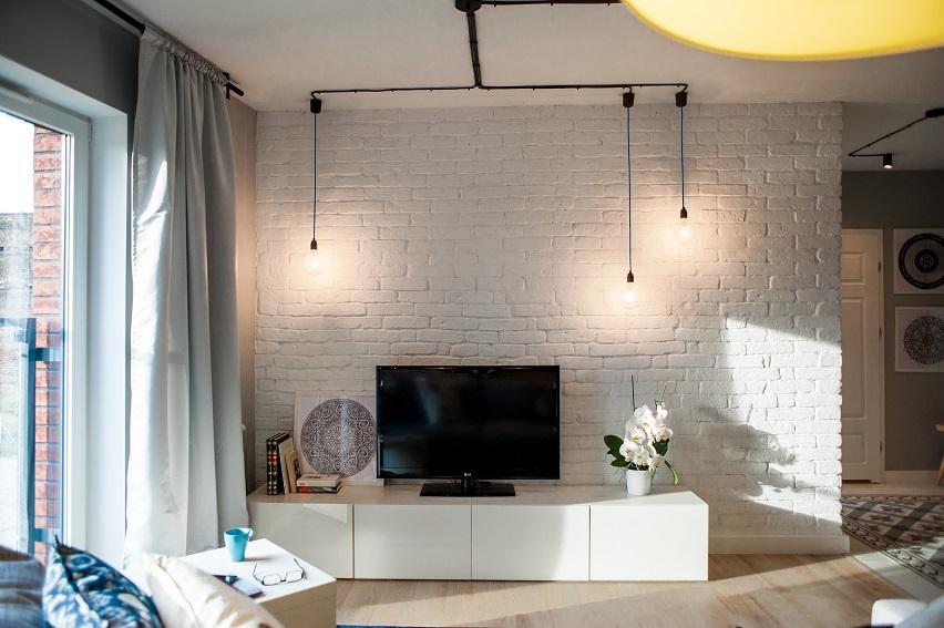 salon w loftowym stylu
