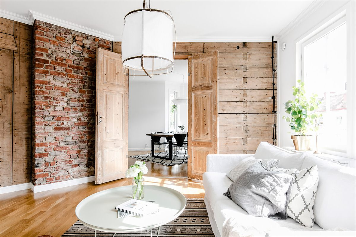 salon w stylu skandynawskim projektowanie wnętrz Katowice
