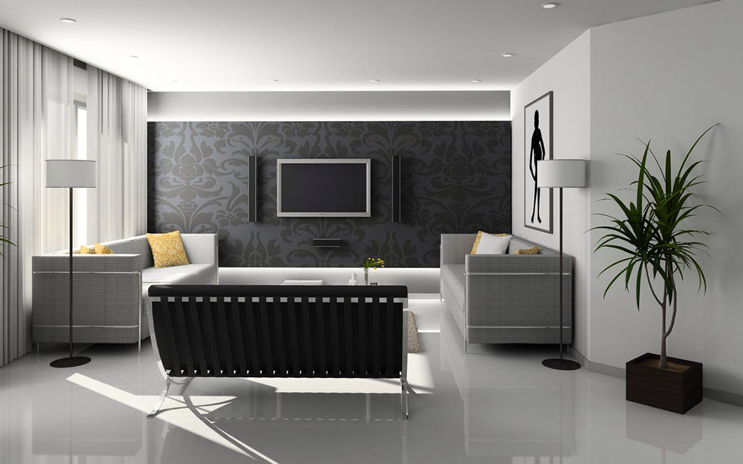 oświetlenie led projekt salonu