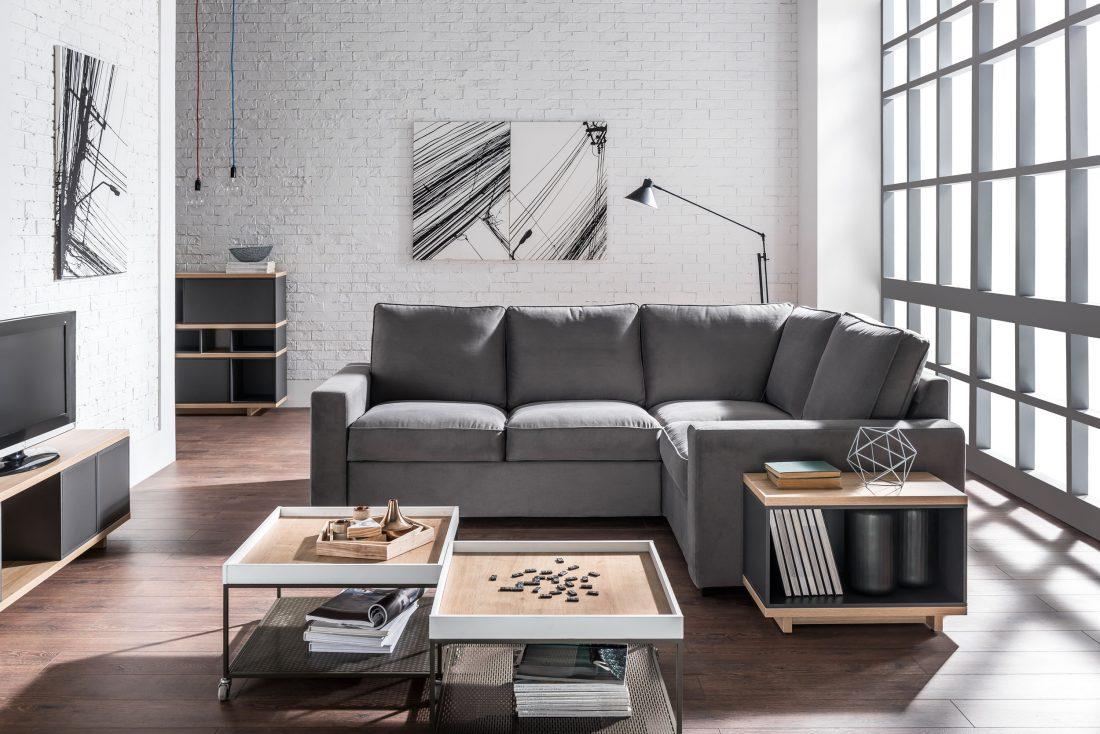 VOX_Szafir dab concord brazowy- sofa Aspen