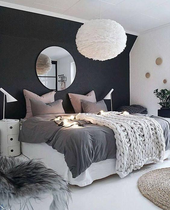 aranżacja wnętrz sypialnia w stylu skandynawskim