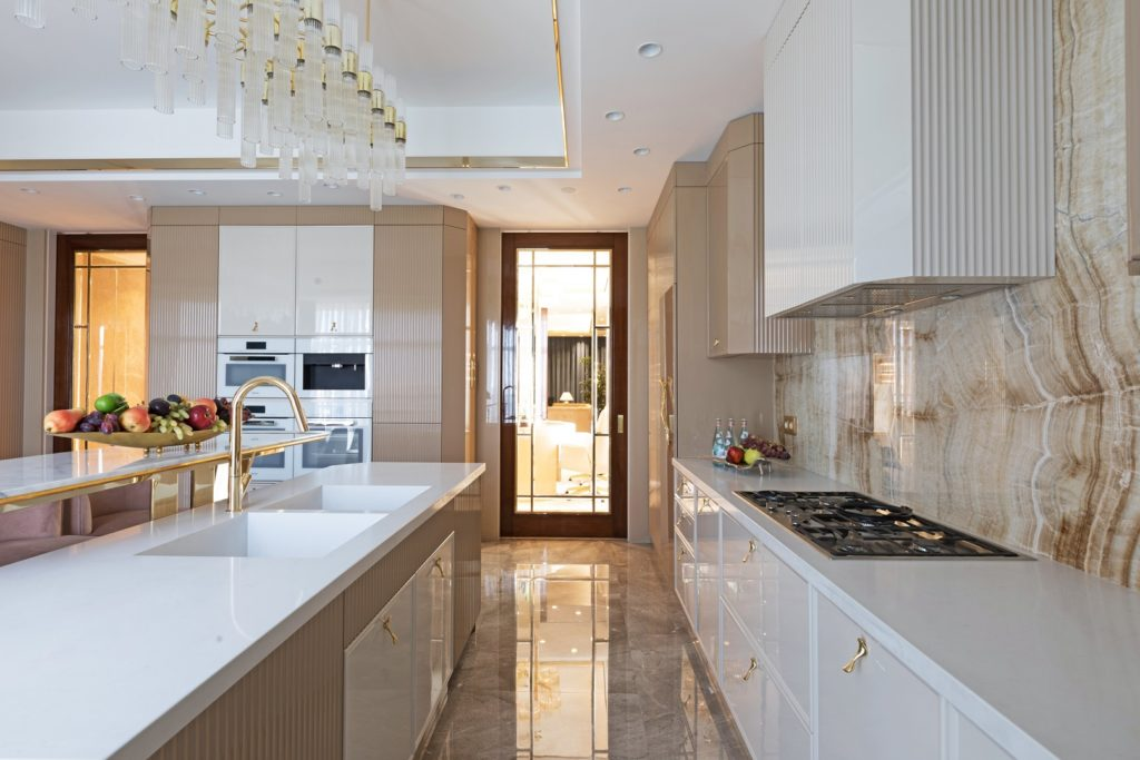 Covet House, Project Dining Room _ Flow Doorpull on Modern Kitchen, 3429669