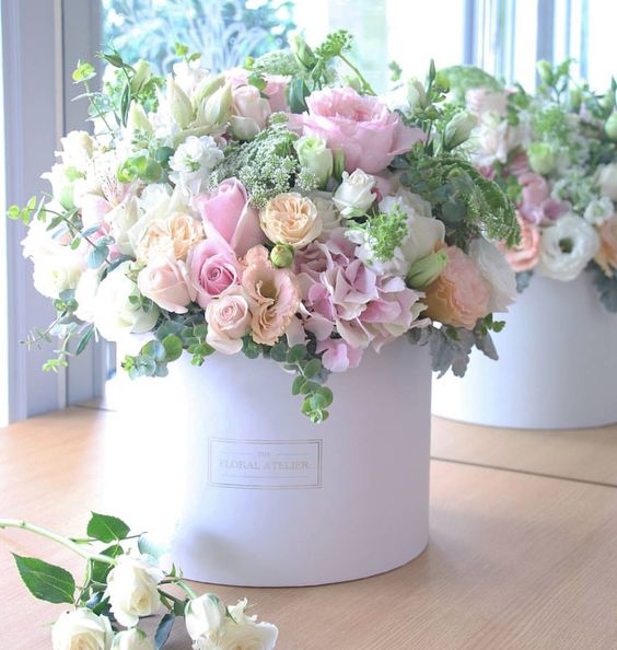 flower box kwiaty w pudełku róże