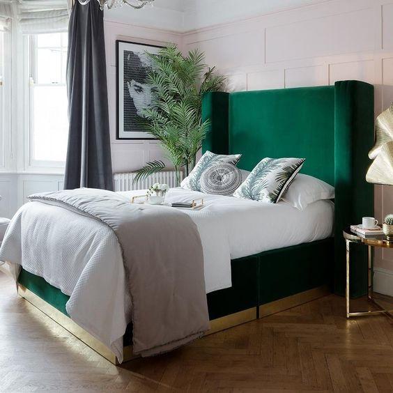sypialnia w stylu artdeco